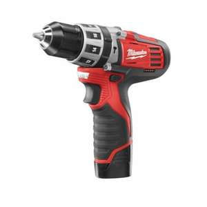 Milwaukee 12V Pro grade Combi Drill - 1.3kg  ! Case & 2 x 2Ah Li-ion batteries - 3 Years warranty - £99.98 delivered or collect in store @ toolstation