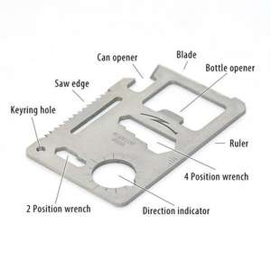 Credit card multi tool £0.41 Sold by A Brilliant Planet and Fulfilled by Amazon (Add On)