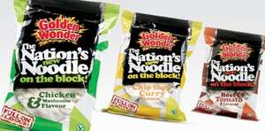 GOLDEN WONDER (Pasta, Rice & Noodles) Mix and match 3 FOR £1 @ Asda
