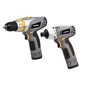 Titan TWINPACK10.8V 1.3Ah Li-Ion Drill & Impact Driver & 3x Batteries £70 @ Screwfix