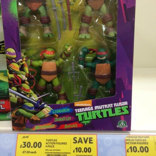 Teenage Mutant Ninja Turtles Action Figures 4 Pack £30 @ Tesco Instore (Upper Boat, Pontypridd)