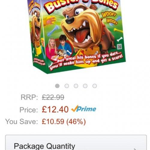 Amazon Don't Take Buster's Bones board game - £12.40 @ Amazon