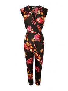 Online only: Peacocks £4.99 womens floral/black jumpsuit