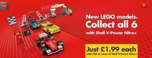 New Shell V-Power Lego collection (2 with minifigures), £1.99 when £30 spent on vpover