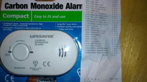 Carbon monoxide Alarm 7year £3.99 instore ALDI Baguley