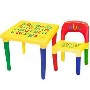 Childrens Alphabet Table & Chair Set Only £11.99 @ Home Bargains