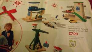 wooden port,parking garage or airport set £7.99 @ lidl