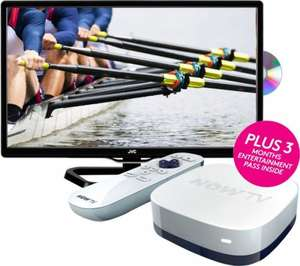 "JVC LT-24C340 24"" LED TV with Built-in DVD Player with Now TV HD Smart TV Box - Entertainment Bundle £139 Instore & Online @ Currys"