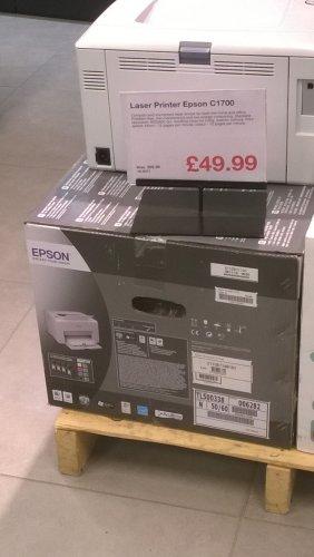 Epson C1700 Colour Laser Printer £49.99 @ Clas Ohlson (instore)