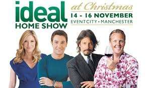 "1000 Free tickets ideal home show Manchester on 14-16th nov - code : ""XMAS"""