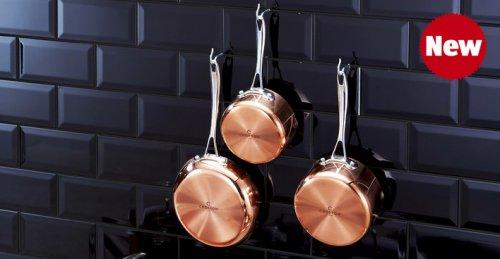 Tri-Ply Copper Milk Pan, Saucepan or frying pan £19.99 from Thurs 13th nov @ Aldi