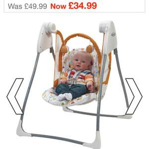 Graco Baby Delight Swing Was £49.99 now £28.99 @ Smyths. Free click and collect