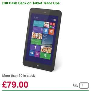 "Linx 7 Windows 8 Tablet 7"" IPS Touch Screen Quad Core 1GB 32GB £79 @ Dabs"