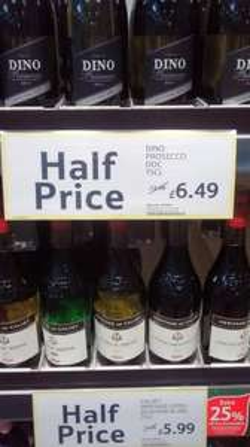 Dino Prosecco half price £6.49.. possible £4.87 @ Tesco