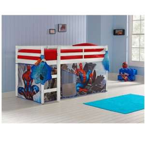 White Single Mid Sleeper Bed & Spider-Man Tent - £135.99 @ Argos