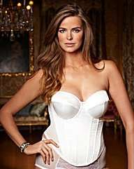 Splendour Ivory Satin Multiway Basque £12.50 @ Simply Be