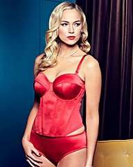 Splendour Red Satin Multiway Basque £12.50 @ Simply Be