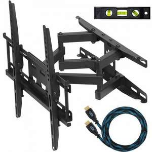 """Cheetah TV Mounts Dual Articulating Arm for 20"""" - 55"""" TVs - Sold by SPN Imports and Services LLC and Fulfilled by Amazon. £14.33"""