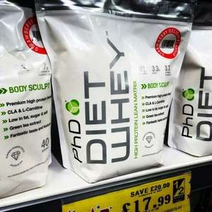 Phd diet whey protien, 40 servings £17.99 @ Home Bargains.  limited stock