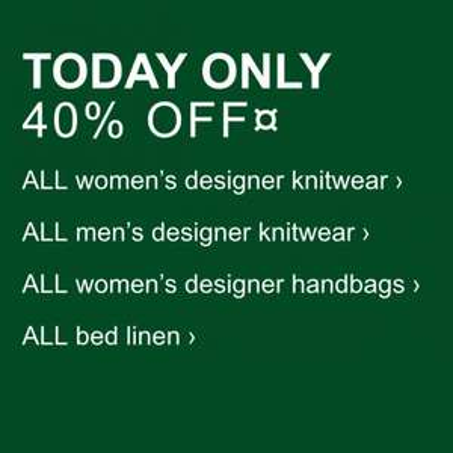 40% Off @ Debenhams- Today Only