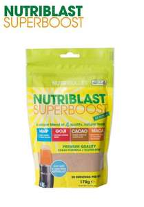 Nutriblast superboost was 19.99 get for 8.99 with hstv code on repeat and save from high street tv