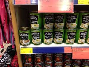 £0.10 Cross & Blackwell cream of mushroom soup in B&M