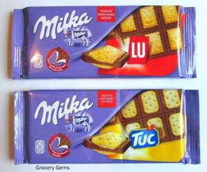 Milka Chocolate Bars Tuc & Lu only 49p @ Home Bargains