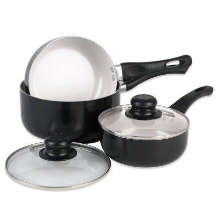 Russell Hobbs Ceramic Saucepan Set 3pc- £19.99 at B&M