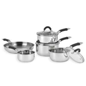 Russell Hobbs Fusion Pan Set 5pc Stainless Steel- £29.99 at B&M