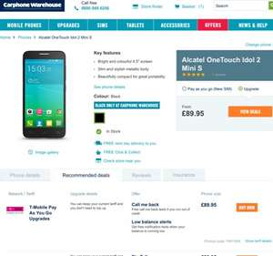 Excellent budget 4g phone. Get it now. Alcatel idol 2 mini s - £89.95 @ CPW