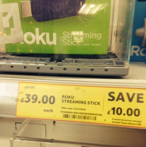 Roku streaming stick £39 @ Tesco instore