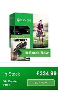 Xbox One Console (Black) with FIFA 15 + Call of Duty Advanced Warfare £334.99 @ Simply Games