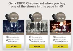 Free Chromecast with the order of Gotham, Originals or Doctor who £24.99 @ Wuaki TV