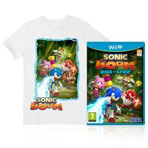 Sonic Boom: Rise of Lyric (Wii U) or Sonic Boom: Shattered Crystal (3DS) with Free T-Shirt £39.99 / £34.99 @ Official Nintendo Store
