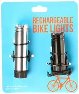 Halfords USB Rechargeable Bike Lights - front and rear - £20