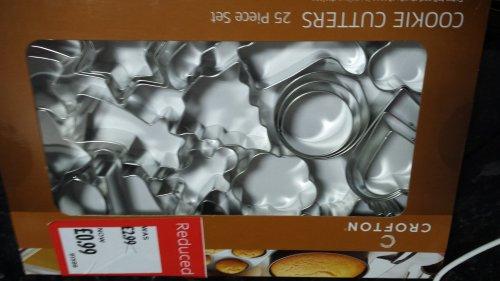 25 piece cookie cutter set @ ALDI - 99p
