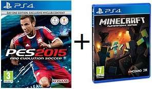 PS4: PES 2015 + Minecraft £40.00 (Using Code: TDX-7KPG) + (Possible 1.57% TCB) @ Tesco Direct