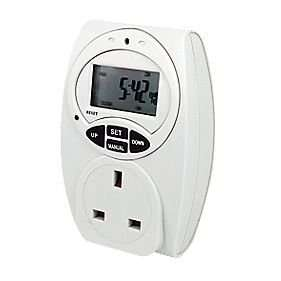 Masterplug Digital Programmable 7 Day Timer 240V SCREWFIX £3.50