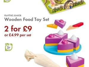 Wooden Toy Food Sets @ Lidl from 17th Nov £4.99 or 2 for £9 plus more...