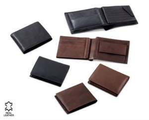 Men's leather wallets £6.99 from 20th November instore @ Aldi