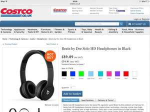 BEATS by Dr Dre SOLO HD Headphones available in ALL 9 colours £89.89 @ COSTCO