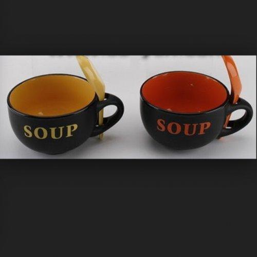 Soup mug and spoon set £1!! @ poundland
