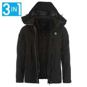 Karrimor Mens 3 in 1 waterproof jacket. 27.99 + £3.99 P&P reduced from £99.99 at sportsdirect