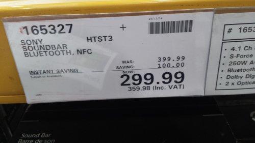 Sony soundbar £299.99 @ Costco