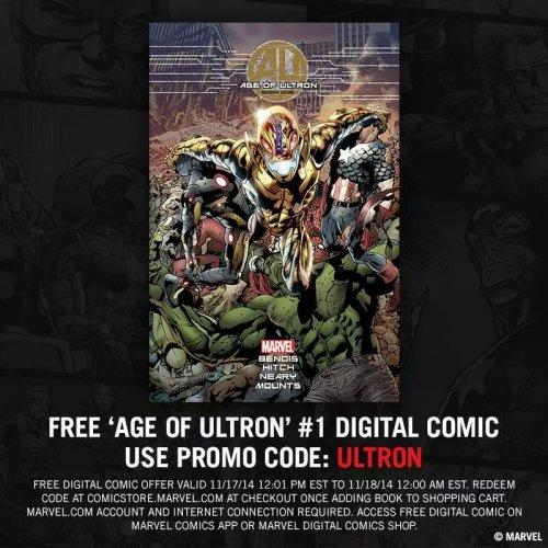 Free digital marvel comic. Age of ultron #1