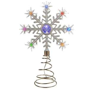 Christmas Tree Topper Decoration with 8 Colour Changing LED Lights - £4.49 delivered from Saifield Dist / Amazon