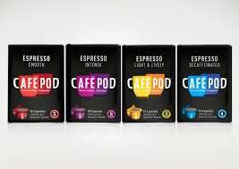 CAFEPOD Capsules  Nespresso compatible Tesco £2 usualy £2.75