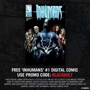 MARVEL INHUMANS ISSUE #1 Digital comic download. - Free
