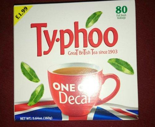 80 Typhoo decaf Tea Bags  95p @ Home Bargains