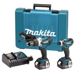 Makita DLX2005M DHP458, DTD146 (2 X 4ah Batteries) UK Tool Mart